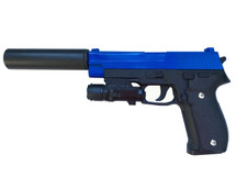 Galaxy G26A P226 Metal Pistol inc Silencer in Blue