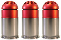 Nuprol 40mm Gas Grenade 72 Round in Red (3 pack)