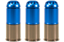 Nuprol 40mm Gas Grenade 120 Round in Blue (3 pack)