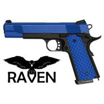 Nuprol Raven 1911 MEU Full Auto GBB Pistol in Blue