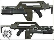 Snow Wolf M41A Pulse Rifle AEG AKA The Alien Gun in Olive Drab