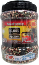 War inc 10000 Camo BB Pellets x 0.12g with Free M5904 Pistol