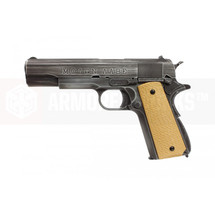 "Armorer Works Custom 1911 ""Molon Labe"" Gas Blowback Pistol Tan Grips"