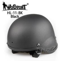 Wo Sport MICH 2000 Combat Airsoft Helmet in Black