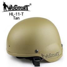 Wo Sport MICH 2000 Combat Airsoft Helmet in Desert Tan