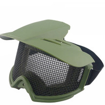 WoSport Desert Locust Mesh Goggles with Sunshade in Olive Drab