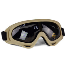 Wo Sport HD Airsoft Goggles in Tan with Black Lens