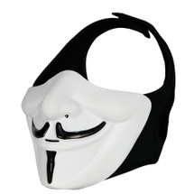 Wo Sport V-Mask Vendetta half mask in white