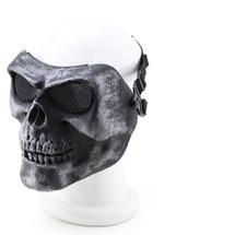 Wo Sport Skull Plastic Mask V2 (Steel Mesh) Silver/Black