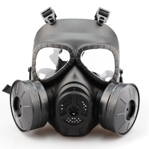 WoSport Air Filtration Gas Mask with Twin Fans in Black
