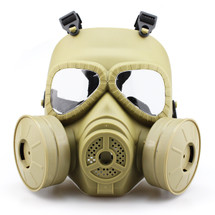WoSport Air Filtration Gas Mask with Twin Fans in Tan