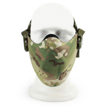 Wosport Half Face Brave Airsoft Mask in Multi Cam