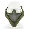 Wosport Half Face V-Master Airsoft Mask in Olive Drab