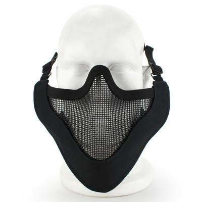 Wosport Half Face V-Master Airsoft Mask in Black