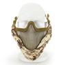 Wosport Half Face V-Master Airsoft Mask in Digital Desert