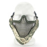 Wosport Half Face V-Master Airsoft Mask in ACU Camo