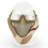 Wosport Half Face V-Master Airsoft Mask in Three Desert Camo