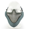 Wosport Half Face V-Master Airsoft Mask in Gray