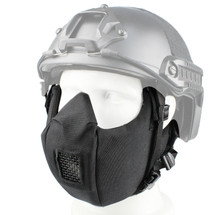 Wosport Half Face V5 Conquerors Airsoft Mask in black