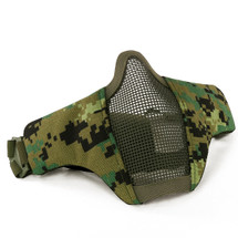 Wosport Half Face WST Steel Mesh Airsoft Mask in AOR2 Camo
