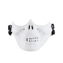 Wo Sport Half Face Skull Plastic Airsoft Mask V3 in White