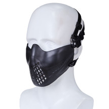 Wo Sport Half Face Pilot Airsoft Mask V3 in Black