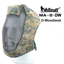 "Wo Sport Face Steel ""Striker"" Gen3 Mesh Full Face Mask in Digital Woodland"