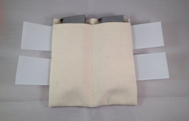 3 different open magazine pockets available. This is the most popular mag pocket. The mags are very secure.