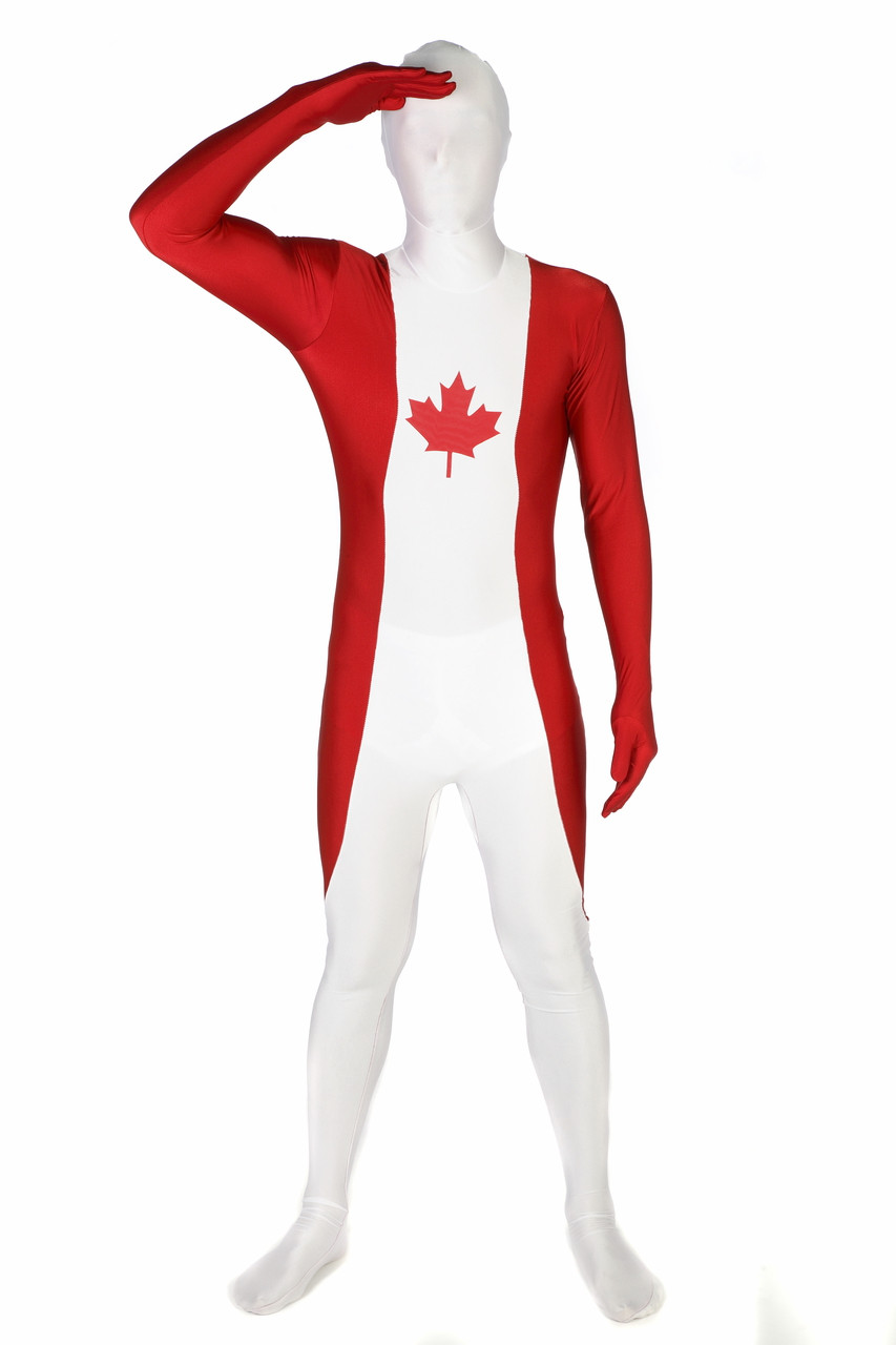 canada flag morphsuit full body costume the costume shoppe