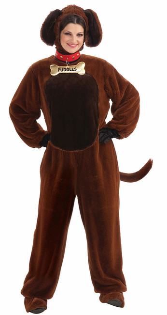 Puddles The Puppy Mascot Adult Costume