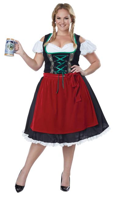 Ladies Plus Oktoberfest Fraulein Costume