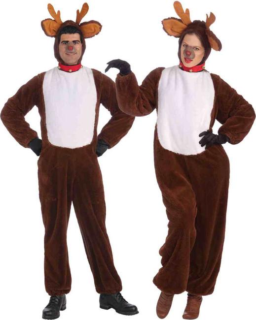 Plush Unisex Reindeer Costume