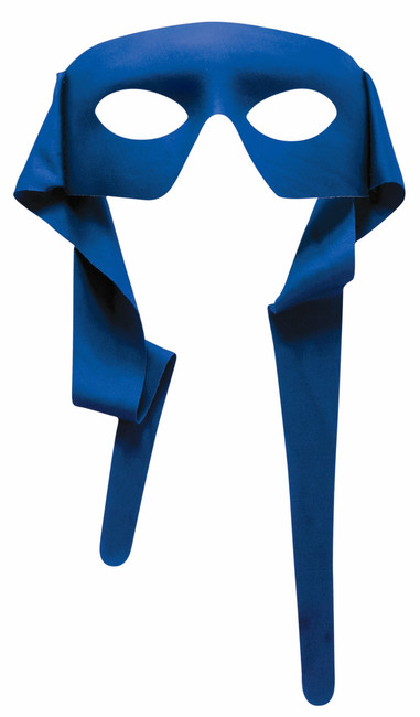 Superhero Masked Man with ties Mask - 7 Colours