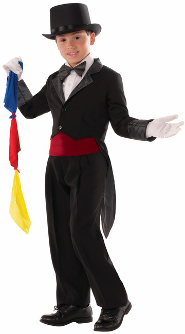 Child's Magician Tailcoat with Scarves Kit
