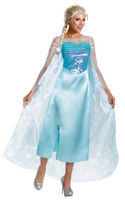 Deluxe Adult Plus Elsa Frozen Costume