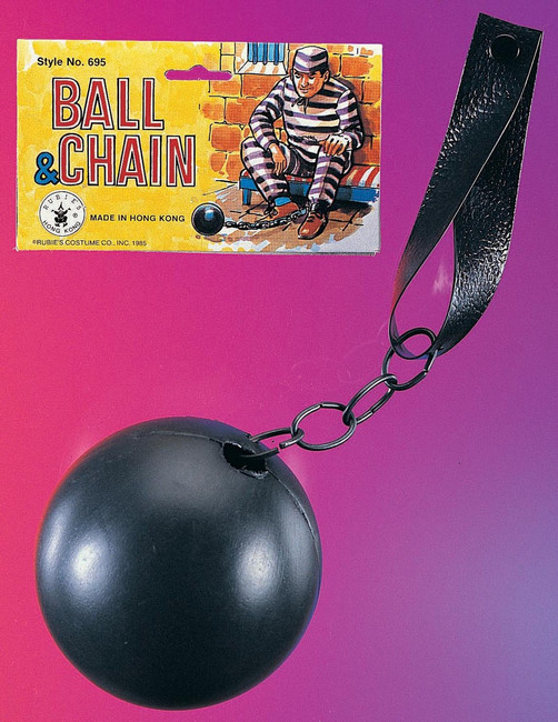 Plastic Ball and Chain Prop