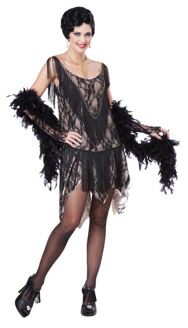 1920s Gatsby Gal Fringe Flapper Costume