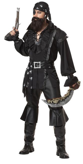 Dark Plundering Pirate Men's Costume