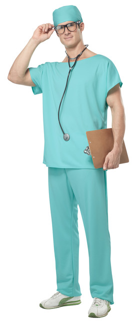 Men's Doctor Scrubs Costume