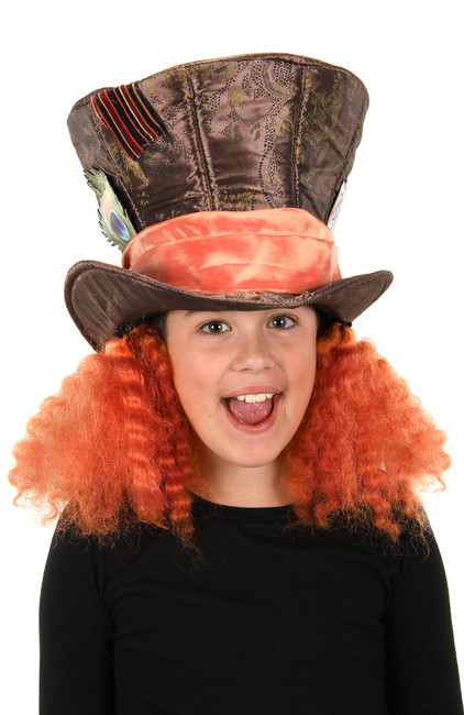 Kids Mad Hatter With Hair Hat