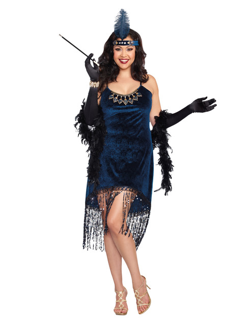Downtown Doll 20s Flapper Plus Size Costume