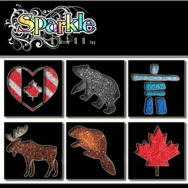 Canada Stencils Glitter Temporary Tattoos