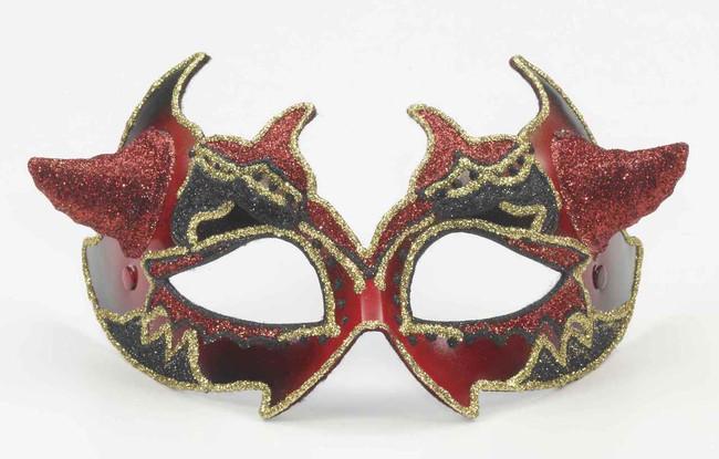 Venetian Devil Masquerade Headband Mask