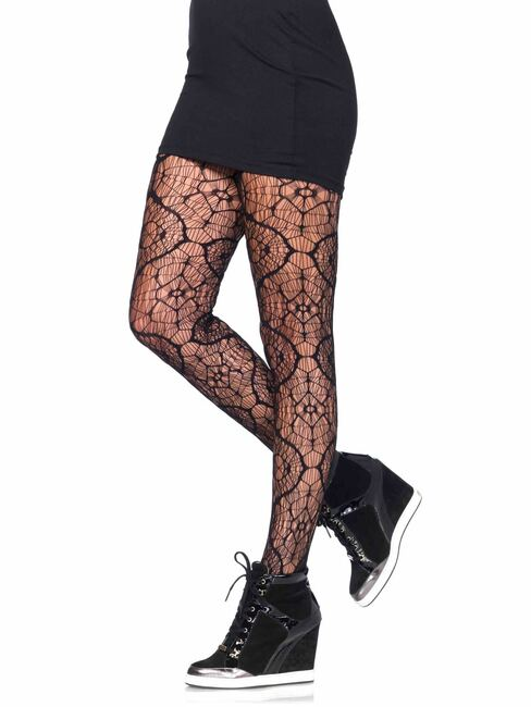 Stained Glass Fishnet Tights