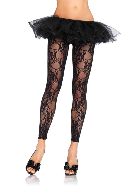 Ladies Lace Footless Tights