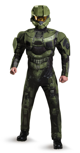 Master Chief Halo Muscle Chest Men's Costume