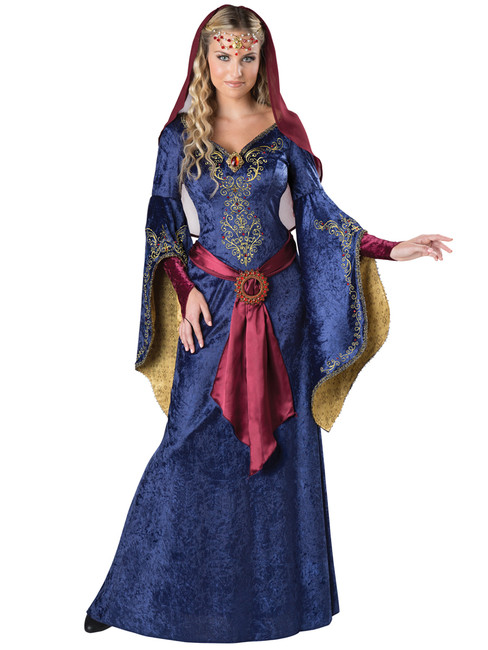 Ladies Deluxe Maid Marian Renaissance Costume