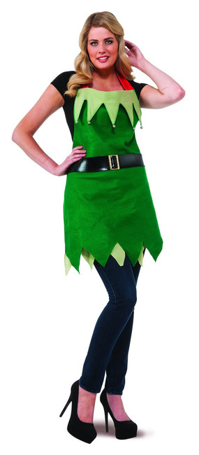 Christmas Elf Apron with Bells