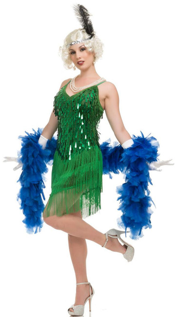 1920s Green Flapper Ladies Costume