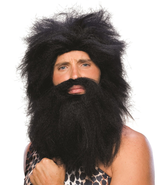 Pre-Historic Wig & Beard Set